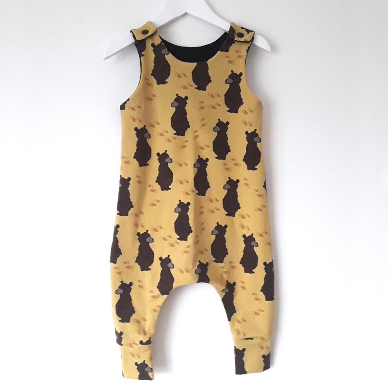Brown bear jumpsuit 1
