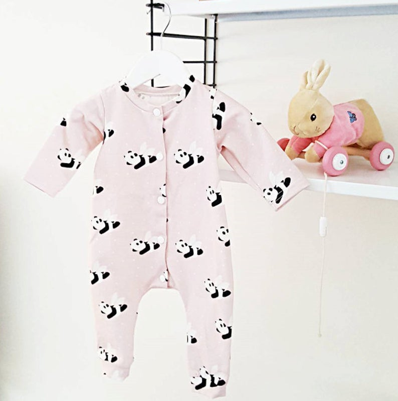 Flying panda onesie 1