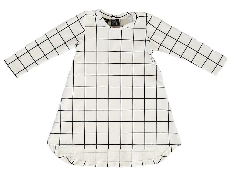 Grid T-Dress