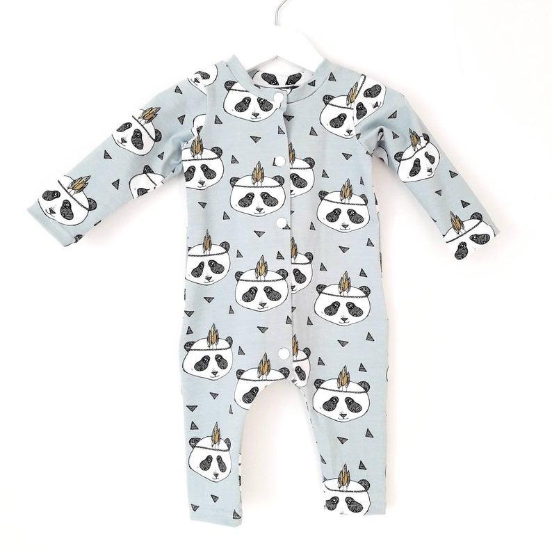 Hippie panda onesie 1